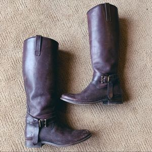 """Frye """"Melissa"""" Knotted Tall Riding Boots"""